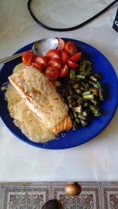 Mi primera comida cocinada por mi mismo desde enero.